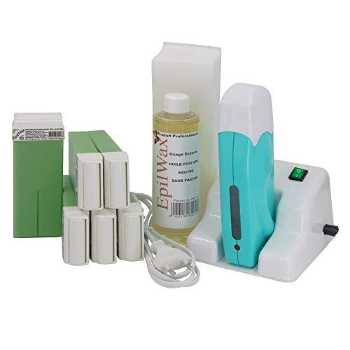 EpilWax - Kit de depilación modular completo con: calentador de cera ...