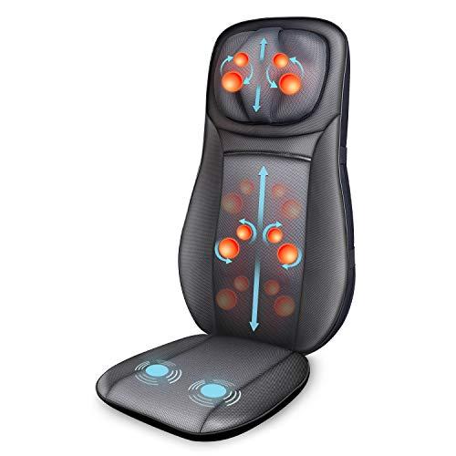 SNAILAX Shiatsu - Cojín de masaje de espalda para silla de masaje con ...