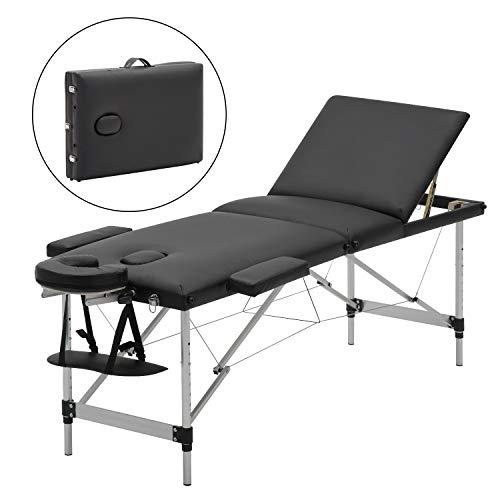 Mesa de masaje plegable Meerveil, cama cosmética plegable ...