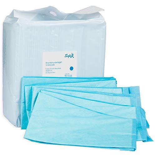 Cubrecolchón desechable 50 piezas 60x90cm azul 6 pliegues, absorbancia, ...