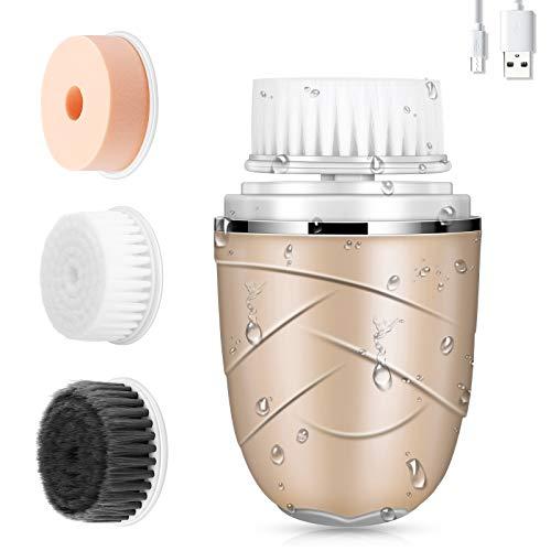 Cepillo limpiador facial 3 en 1 - Eléctrico impermeable ...