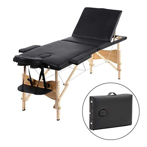 Camilla de masaje Meerveil, cama cosmética plegable de 3 secciones ...