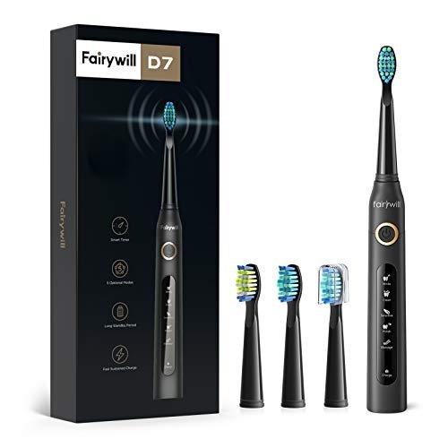 Cepillo de dientes eléctrico Fairywill Sonic cepillo de dientes 4 ...