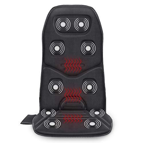Cojín de asiento de masaje COMFIER con calor - 10 motores de ...
