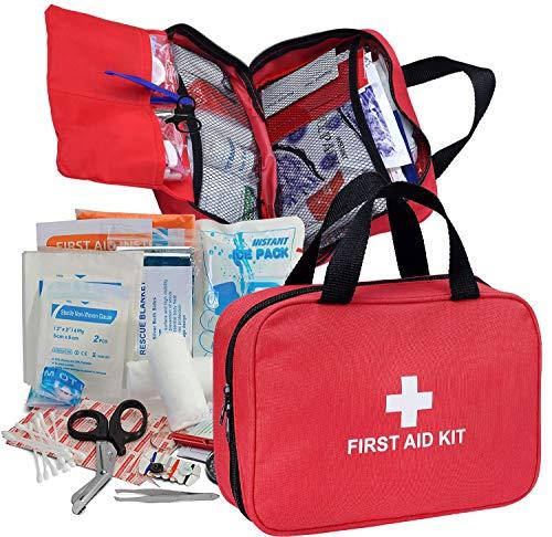 Botiquín de primeros auxilios de 180 piezas, caja de emergencia