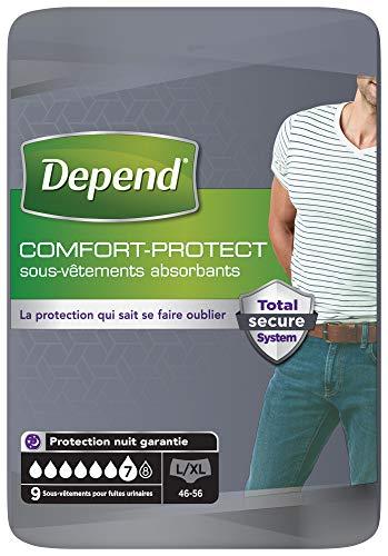 Depend Comfort-Protect Ropa interior para hombre (7 gotas) Talla ...