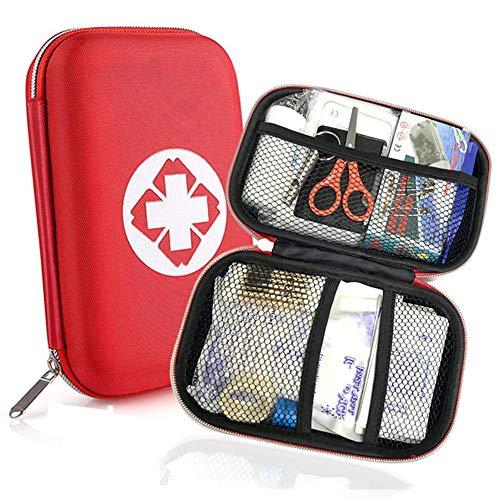 Botiquín de primeros auxilios 18 artículos, mini semirrígido rojo ...