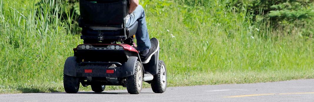scooter eléctrico para senior rojo