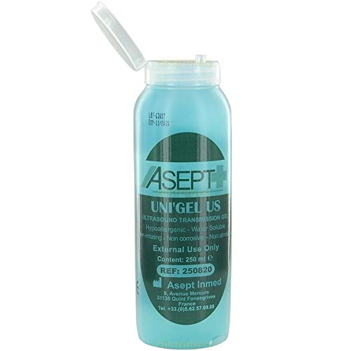 Gel de ultrasonidos - Azul - 250 ml-La botella